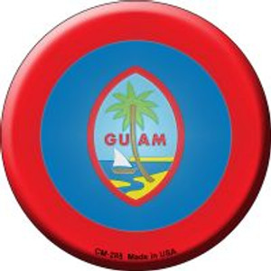 Guam Country Wholesale Novelty Metal Mini Circle Magnet CM-285