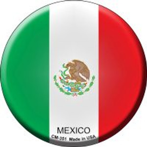 Mexico Country Wholesale Novelty Metal Mini Circle Magnet CM-351
