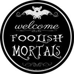 Welcome Mortals Wholesale Novelty Metal Mini Circle Magnet CM-505