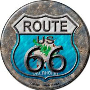 Oklahoma Route 66 Wholesale Novelty Metal Mini Circle Magnet CM-523