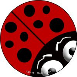 Lady Bug Wholesale Novelty Metal Mini Circle Magnet CM-531