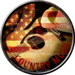 Country Music Wholesale Novelty Metal Mini Circle Magnet CM-573