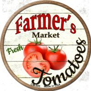 Farmers Market Tomatoes Wholesale Novelty Metal Mini Circle Magnet CM-595