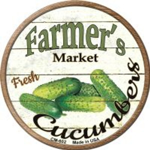 Farmers Market Cucumbers Wholesale Novelty Metal Mini Circle Magnet CM-602