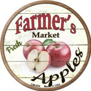 Farmers Market Apples Wholesale Novelty Metal Mini Circle Magnet CM-604
