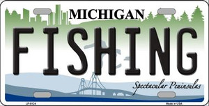 Fishing Michigan Wholesale Metal Novelty License Plate LP-6124