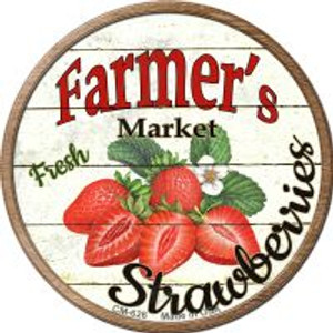 Farmers Market Strawberries Wholesale Novelty Metal Mini Circle Magnet CM-626