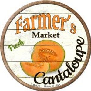 Farmers Market Cantaloupe Wholesale Novelty Metal Mini Circle Magnet CM-628