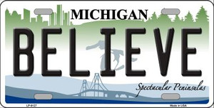 Believe Michigan Wholesale Metal Novelty License Plate LP-6127