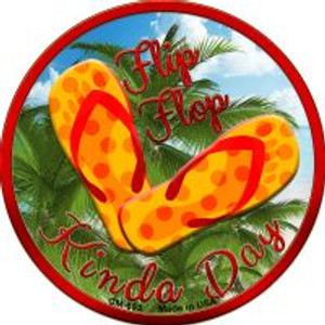 Flip Flop Kinda Day Wholesale Novelty Metal Mini Circle Magnet CM-653
