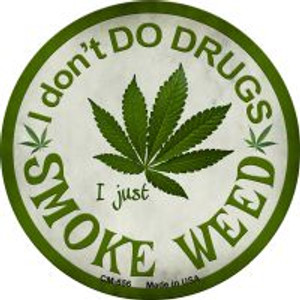 Smoke Weed Wholesale Novelty Metal Mini Circle Magnet CM-656