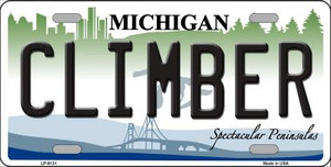 Climber Michigan Wholesale Metal Novelty License Plate LP-6131