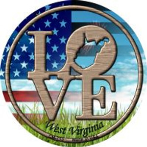 Love West Virginia Wholesale Novelty Metal Mini Circle Magnet CM-713