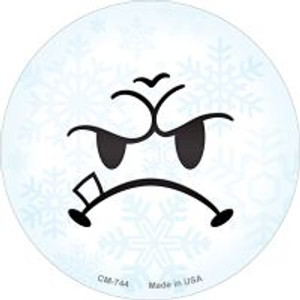 Mean Face Snowflake Wholesale Novelty Metal Mini Circle Magnet CM-744