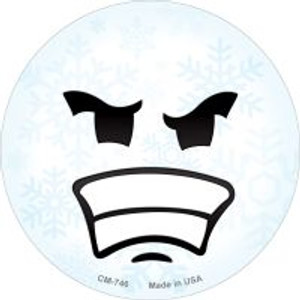 Angry Face Snowflake Wholesale Novelty Metal Mini Circle Magnet CM-746
