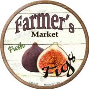 Farmers Market Figs Wholesale Novelty Metal Mini Circle Magnet CM-757