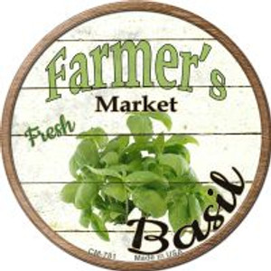 Farmers Market Basil Wholesale Novelty Metal Mini Circle Magnet CM-781