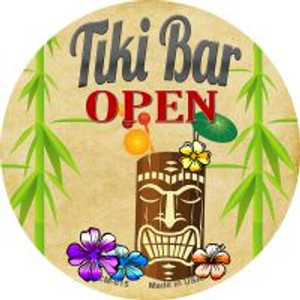 Tiki Bar Open Wholesale Novelty Metal Novelty Metal Mini Circle Magnet CM-815