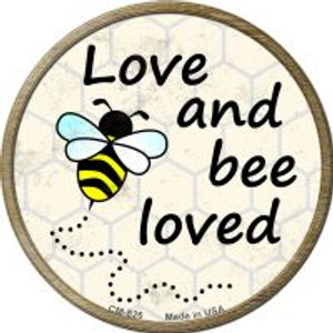 Love and Bee Loved Wholesale Novelty Metal Mini Circle Magnet CM-826