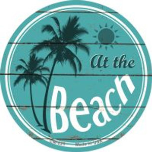 At The Beach Wholesale Novelty Metal Mini Circle Magnet CM-829