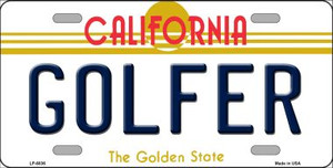 Golfer California Novelty Wholesale Metal License Plate LP-6836
