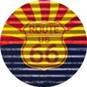 Route 66 Arizona Flag Wholesale Novelty Metal Mini Circle Magnet CM-896