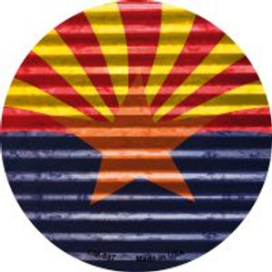 Arizona Flag Wholesale Novelty Metal Mini Circle Magnet CM-897
