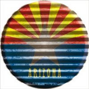 Arizona Flag Corrugated Effect Wholesale Novelty Metal Mini Circle Magnet CM-913