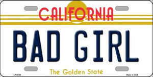 Bad Girl California Novelty Wholesale Metal License Plate LP-6839