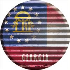 Georgia Flag Corrugated Effect Wholesale Novelty Metal Mini Circle Magnet CM-920
