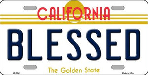 Blessed California Novelty Wholesale Metal License Plate LP-6841
