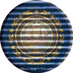 New Hampshire Flag Corrugated Effect Wholesale Novelty Metal Mini Circle Magnet CM-939