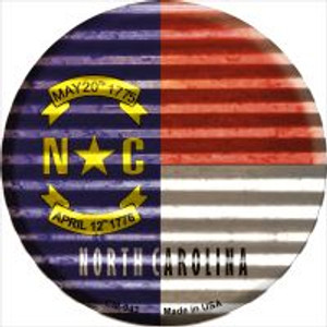 North Carolina Flag Corrugated Effect Wholesale Novelty Metal Mini Circle Magnet CM-943