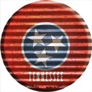 Tennessee Flag Corrugated Effect Wholesale Novelty Metal Mini Circle Magnet CM-952