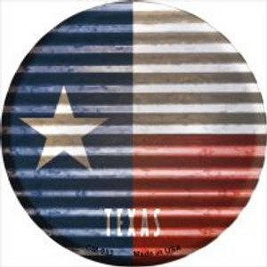 Texas Flag Corrugated Effect Wholesale Novelty Metal Mini Circle Magnet CM-953