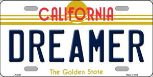 Dreamer California Novelty Wholesale Metal License Plate LP-6843