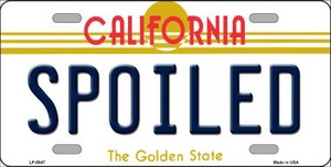 Spoiled California Novelty Wholesale Metal License Plate LP-6847