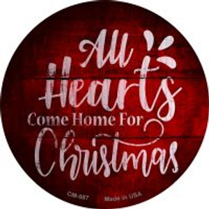 Come Home For Christmas Wholesale Novelty Metal Mini Circle Magnet CM-987
