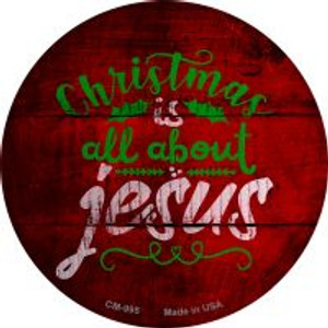 All About Jesus Wholesale Novelty Metal Mini Circle Magnet CM-995