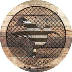 Corrugated Hummingbird on Wood Wholesale Novelty Metal Mini Circle Magnet CM-1025
