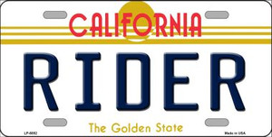 Rider California Novelty Wholesale Metal License Plate LP-6852