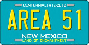 Area 51 New Mexico Novelty Wholesale Metal License Plate LP-6674