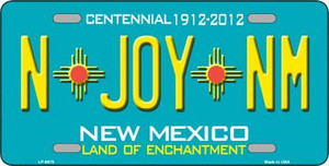 N Joy NM New Mexico Novelty Wholesale Metal License Plate LP-6678