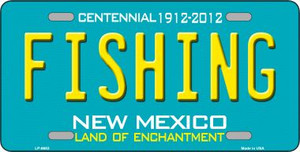 Fishing New Mexico Novelty Wholesale Metal License Plate LP-6683