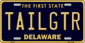 Tailgtr Delaware Novelty Wholesale Metal License Plate LP-6705