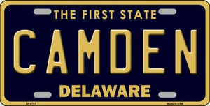 Camden Delaware Novelty Wholesale Metal License Plate LP-6707