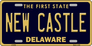 New Castle Delaware Novelty Wholesale Metal License Plate LP-6708