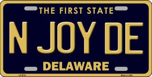 N Joy De Delaware Novelty Wholesale Metal License Plate LP-6721