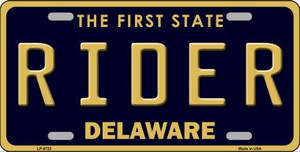 Rider Delaware Novelty Wholesale Metal License Plate LP-6723