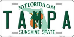 Tampa Florida Novelty Wholesale Metal License Plate LP-6011